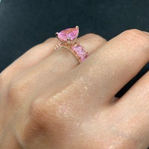 Jewelry - Sterling silver rose gold plated zirconia original